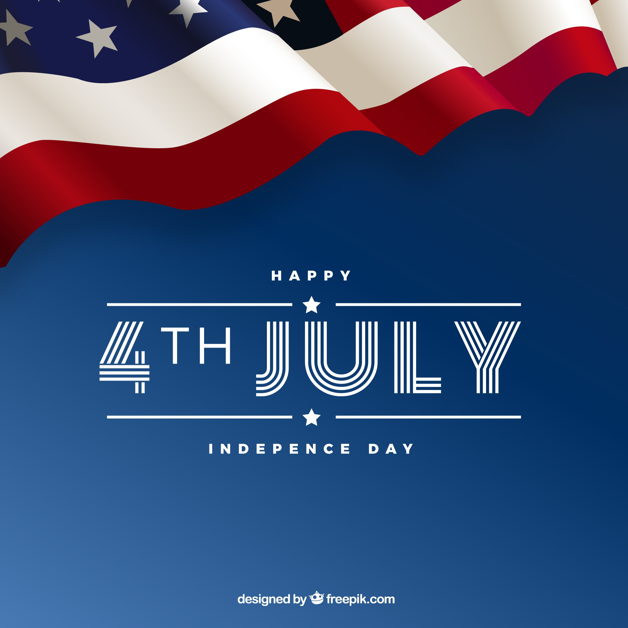 4th of july background with american elements