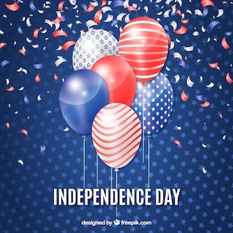 Четвёртый из юли шаров с американскими красками