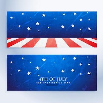 4 июля баннеры набор