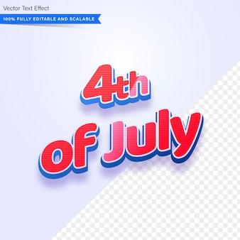 Редактируемый текстовый эффект 4 июля