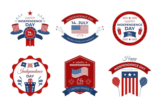 7 월 4 일 독립 기념일 배지