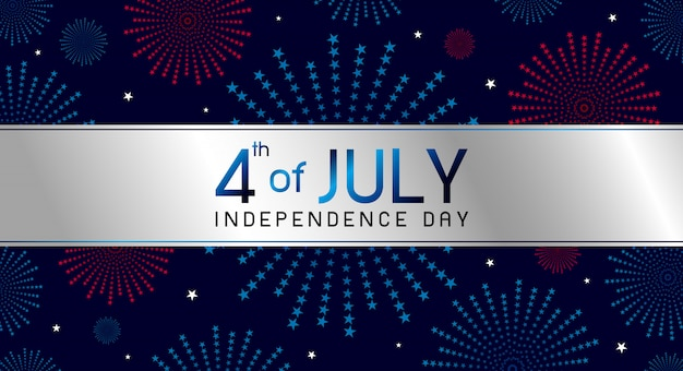 7月4日の独立記念日のデザイン
