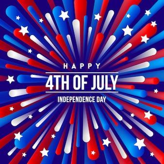 4 июля дизайн приветствия дня независимости