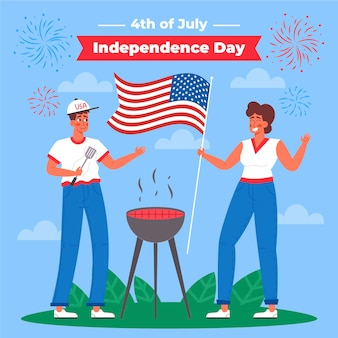 4 июля - иллюстрация дня независимости