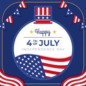 7月4日-独立記念日のイラスト