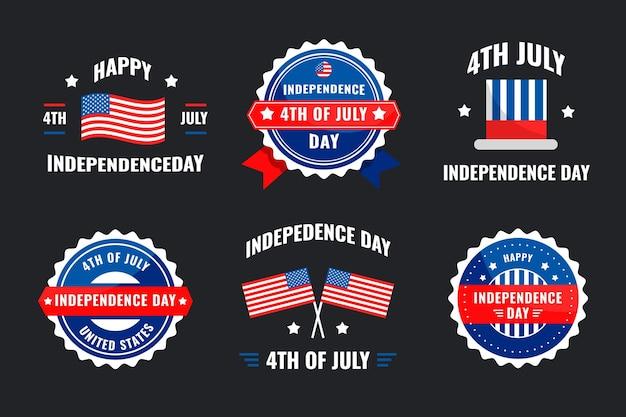 7 월 4 일-독립 기념일 라벨 컬렉션