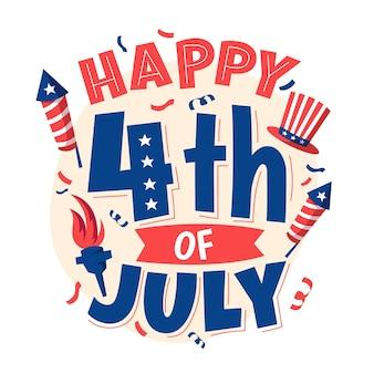 Надпись на день независимости 4 июля
