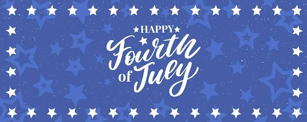 4 июля стильная надпись на день независимости сша
