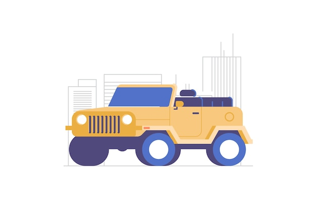 4wd illustration