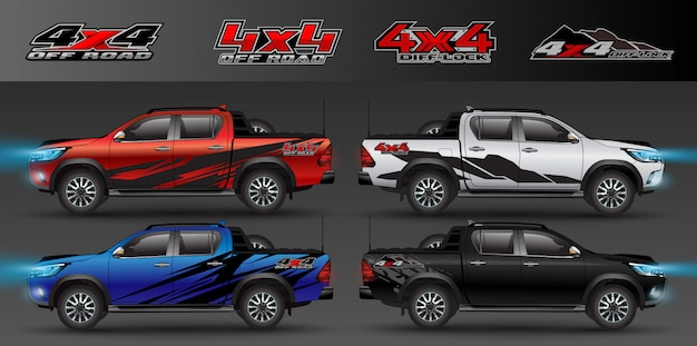 4x4 logo for 4 wheel drive truck and car graphic . design for vehicle vinyl wrap