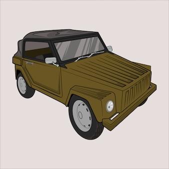 イラスト車4x4サファリ