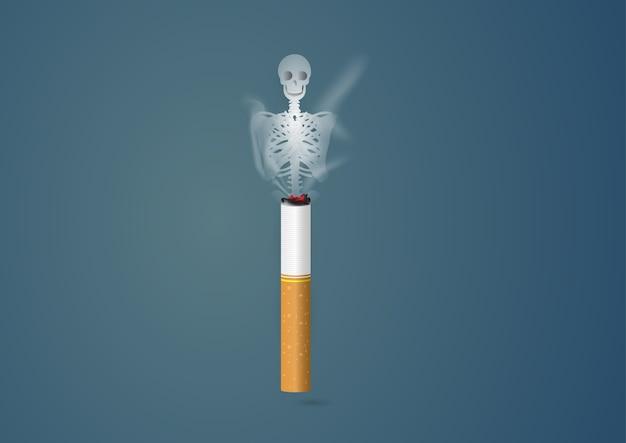 概念無喫煙の日の世界、5月31日のイラストレーション。
