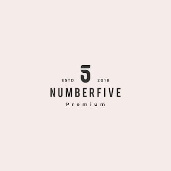 5 5番号ロゴベクトルアイコン記号