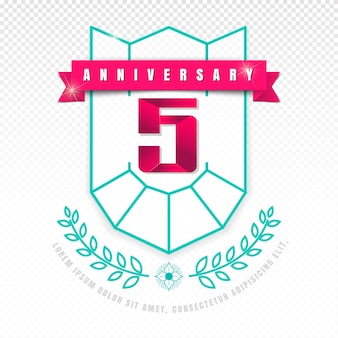 5 anniversary emblem