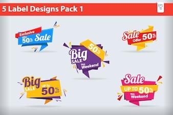 5 Big Sale Label