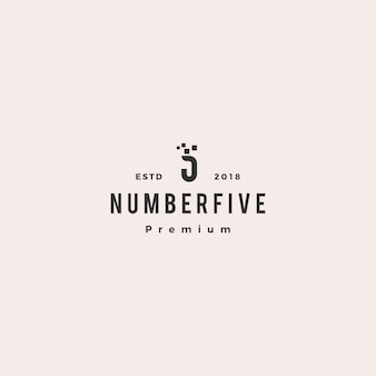 5 five number logo vector icon sign