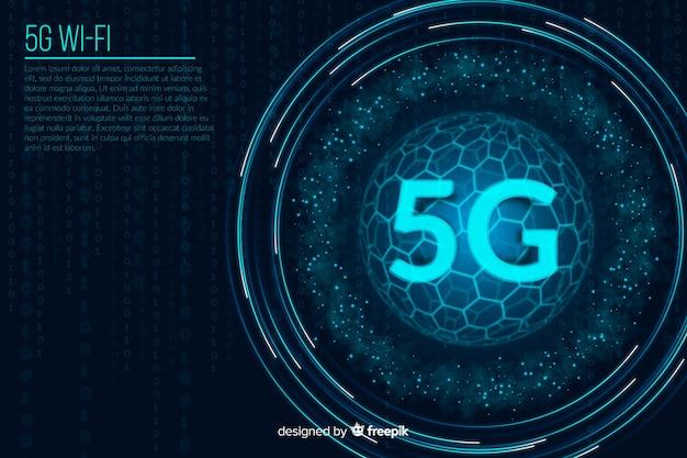 5 gの未来の数字の概念の背景