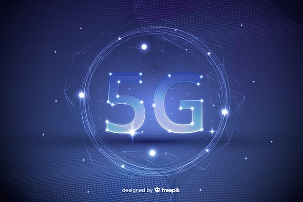 未来的な背景5 gコンセプト