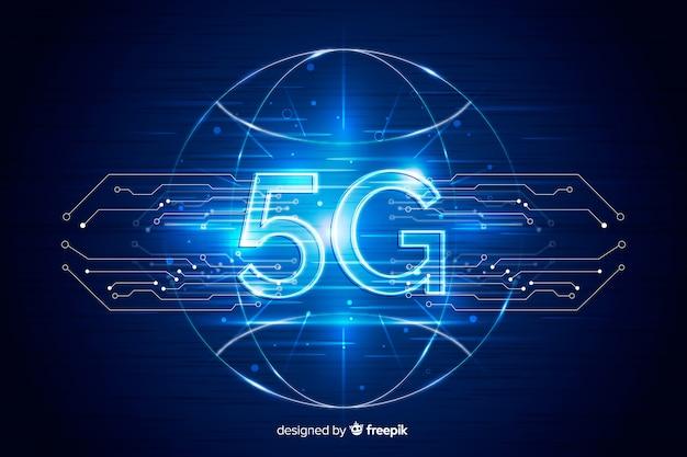 未来的な背景5 gテクノロジー