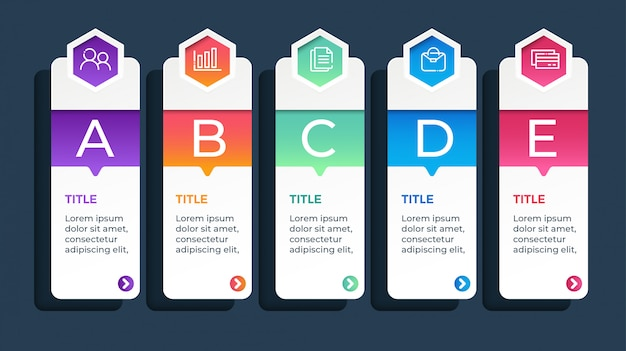 5 options business infographic template