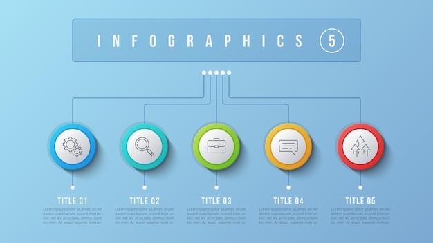 5オプションインフォグラフィックデザイン、構造図、presentati