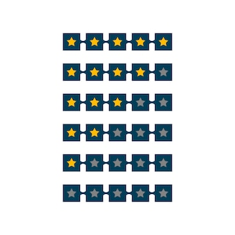 5 star rating symbol design