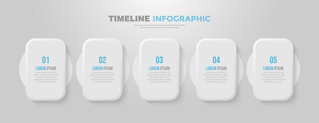 5 шагов плоский бизнес инфографический шаблон