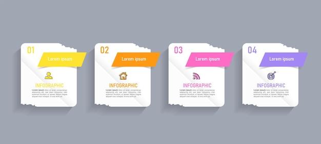 5 단계 비즈니스 인포 그래픽
