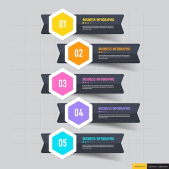 5 steps business infographics