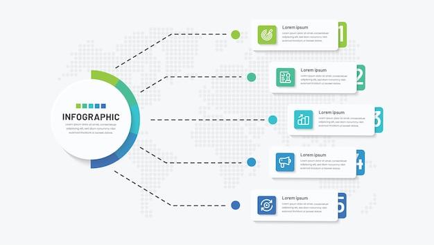5ステップの創造的なインフォグラフィックデザイン