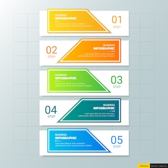 5 steps infographic template