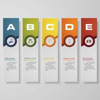 5 steps infographics option.