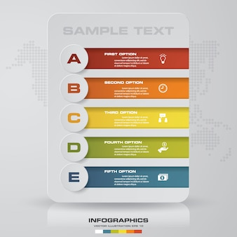 5 steps infographics option.