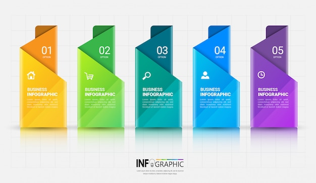 5 steps infographics template