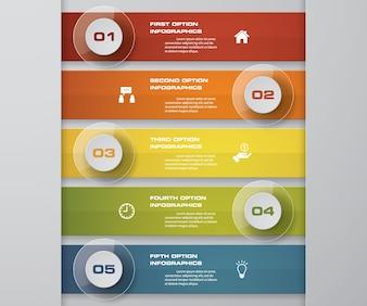 5 steps process infographics design element.