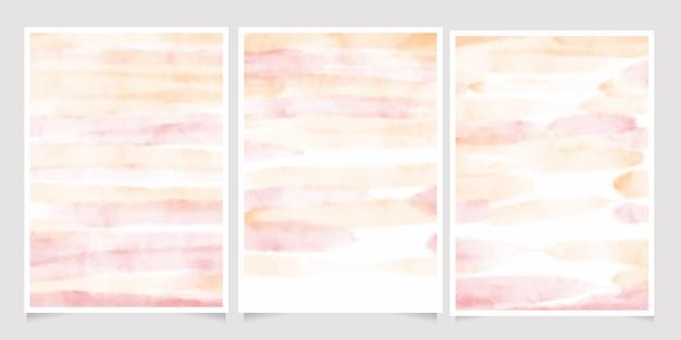 ピンクとゴールドの水彩ウォッシュスプラッシュ5 x 7招待カード背景テンプレートコレクション