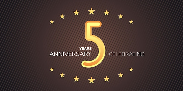 5 years anniversary  icon logo