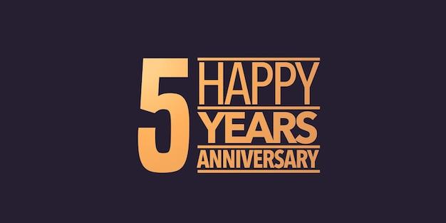 5 years anniversary  icon symbol logo