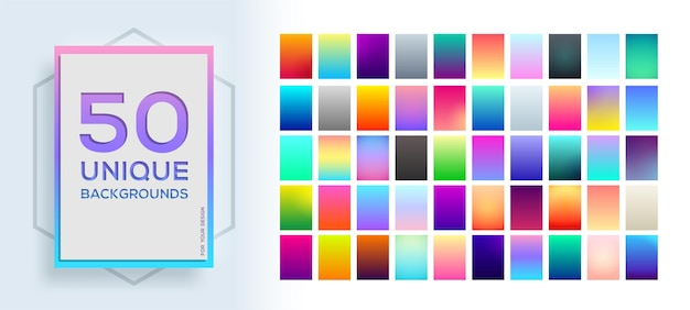 50 best unique soft color gradients.