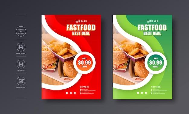 레스토랑 음식 전단지 포스터 디자인 50 할인