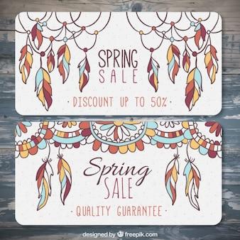 봄 세일 배너 50 % 할인