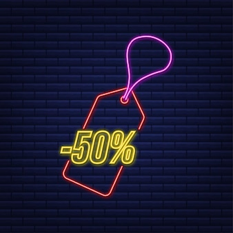 Скидка 50% скидка скидка неоновая бирка цена предложения со скидкой