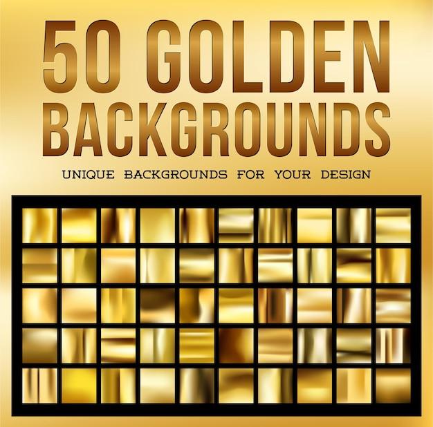 50 уникальных золотых фонов