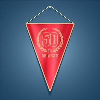 50 years anniversary pennant.