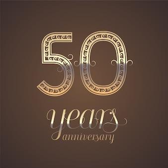 50 years anniversary   template