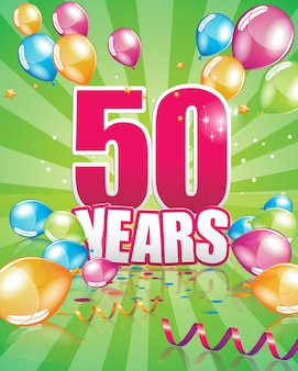 50 years birthday card