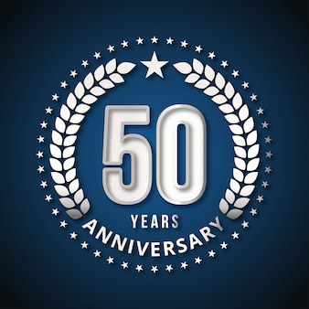 50 years of celebrations design vector
