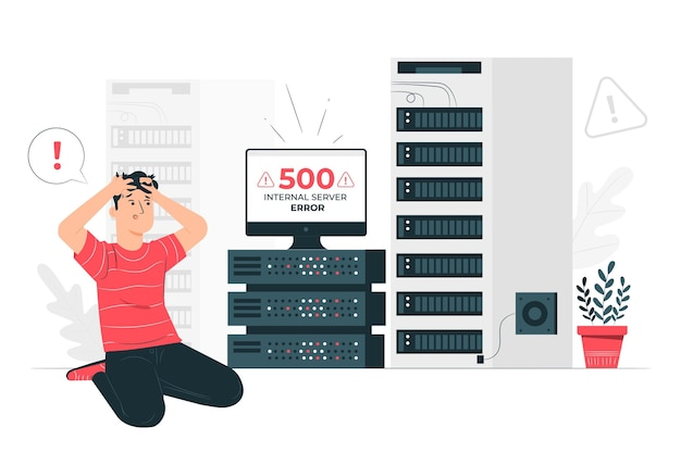 500 internal server error concept illustration