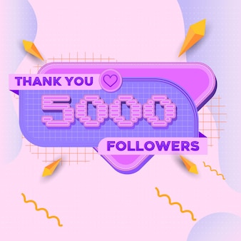 5000 followers square banner modern look