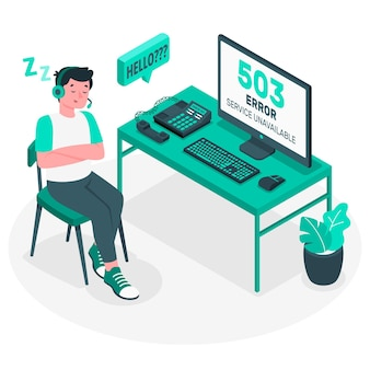 503 error service unavailable concept illustration